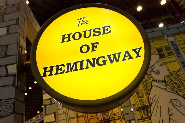 house of hemingway neon sign
