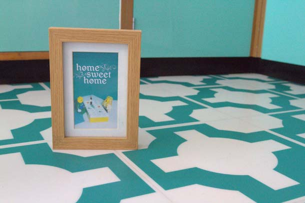 Parquet Turquoise close-up