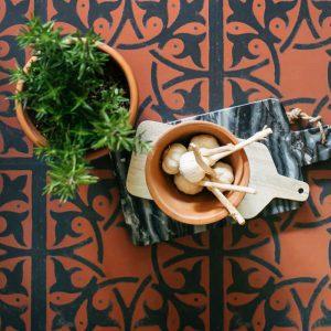 fired terracotta kitchen floor decorative lvt tiles