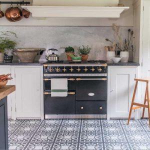 rustic modern slate grey kitchen floor