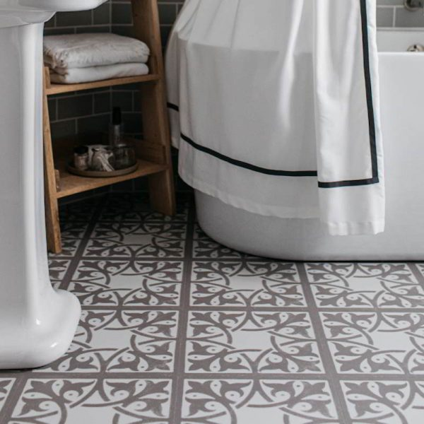 neutral bathroom floor victorian inspired