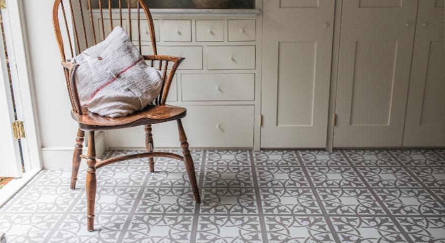 utility room pattern neutral flooring