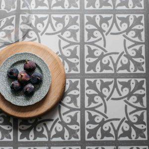 light grey pattern vinyl tile