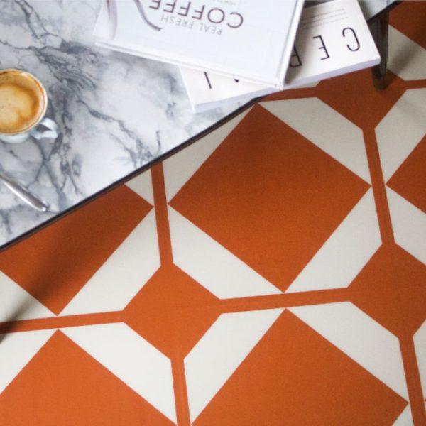 copper pattern floor