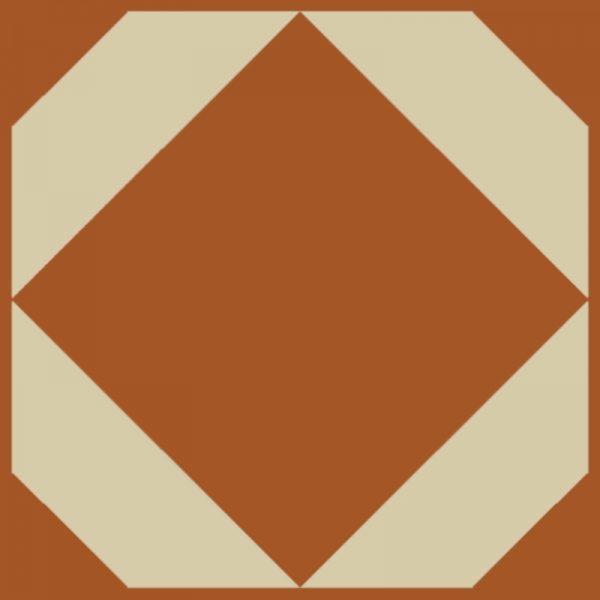 burnt copper floor pattern swatch