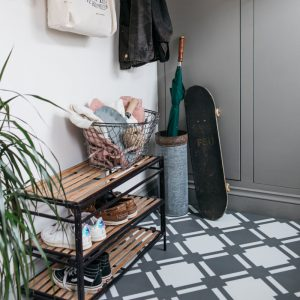 Patterned flooring in cool boot room ideas
