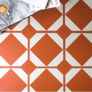 patterned copper vinyl floor tiles
