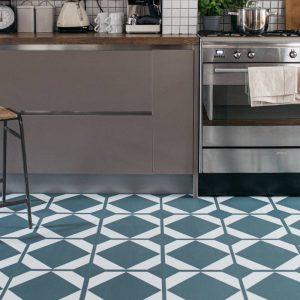 green grey kitchen floor for contemporary style
