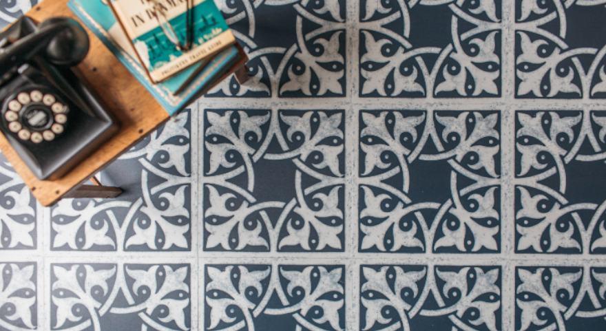 living room vinyl floor pattern
