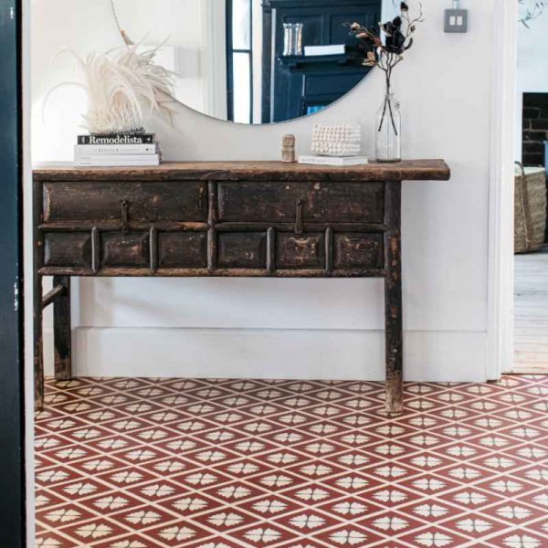 rustic terracotta floor in home