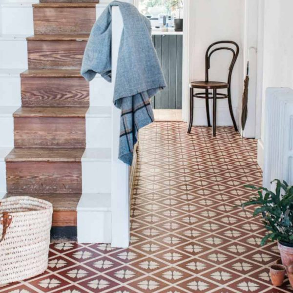 luxury vinyl terracotta floor