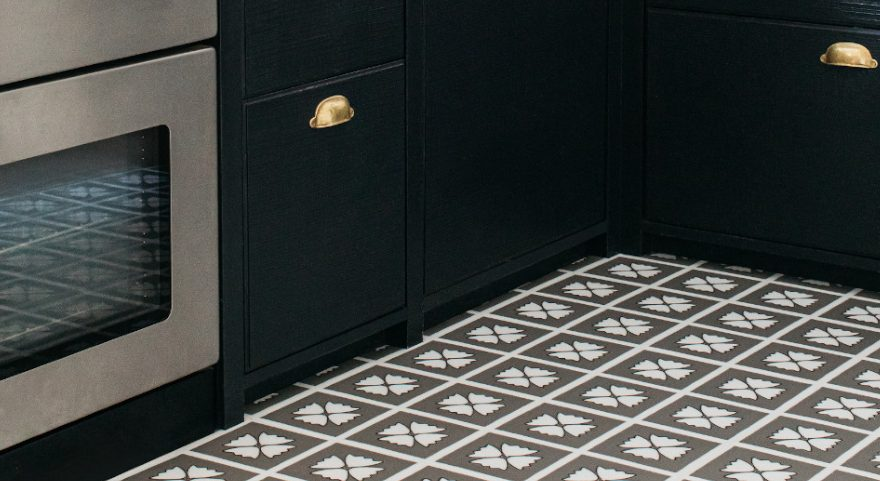 grey pattern kitchen floor