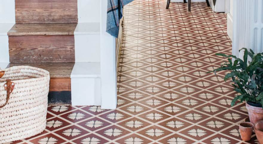 entrance way terracotta floor
