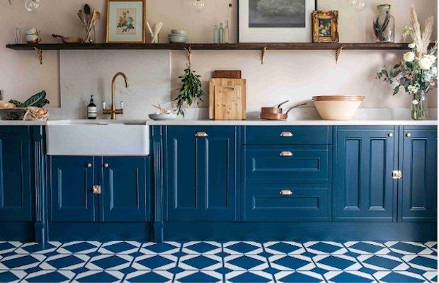 oxford blue in a navy modern kitchen