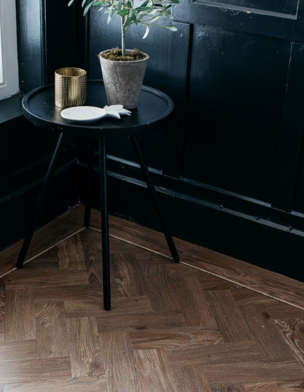 english oak parquet hallway floor