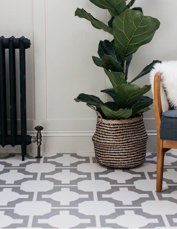 grey patterned floor tiles lvt flooring