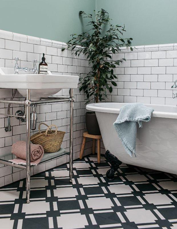 check slate bathroom monochrome floor