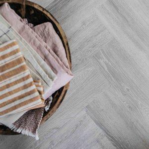 earl grey herringbone wood effect floor