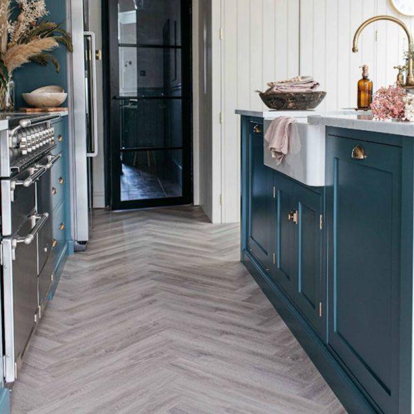 wood flooring herrinbone pattern earl grey
