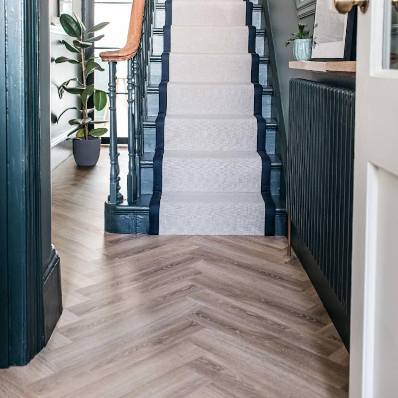 old bramble wooden hallway flooring