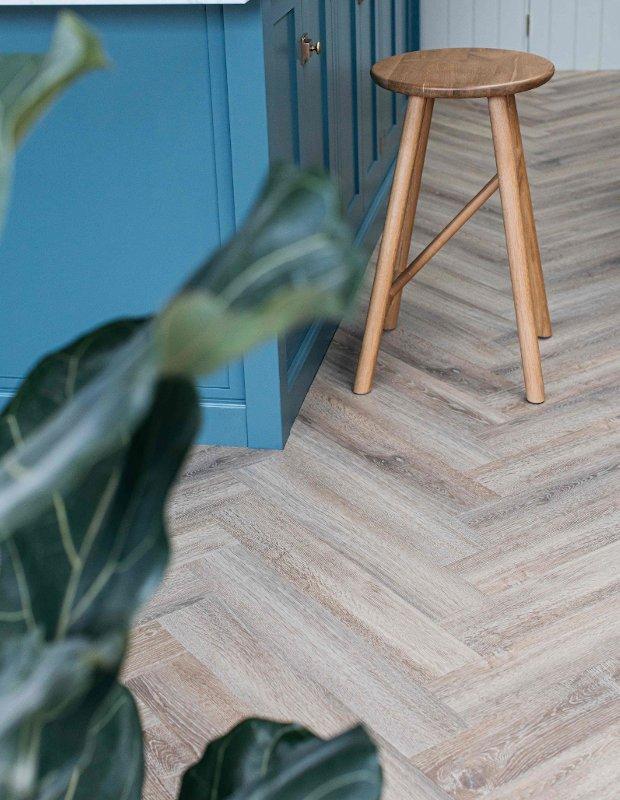dormouse herringbone kitchen flooring