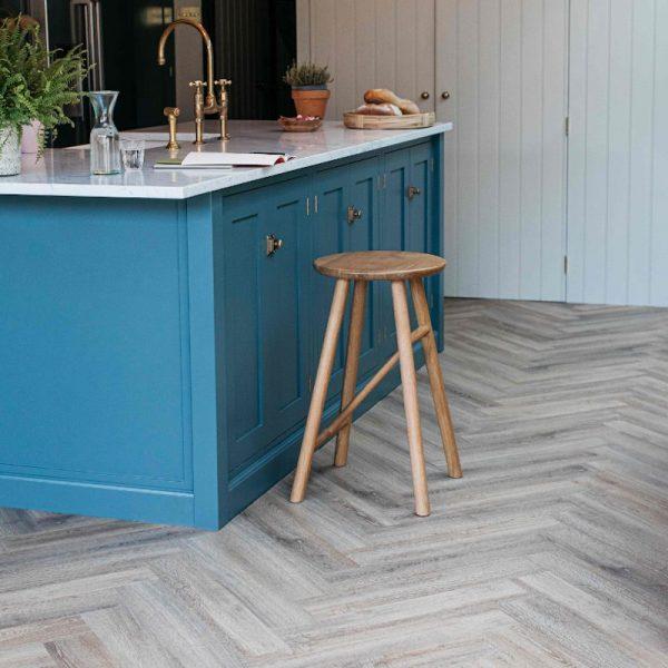 dormouse wood effect kitchen herringbone floor
