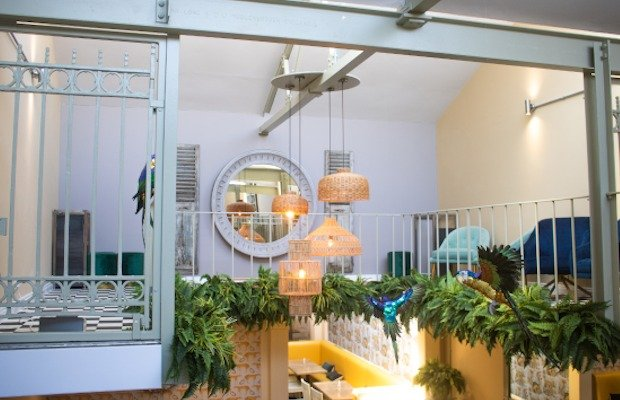 jo and co restaurant rattan hanging lampshades