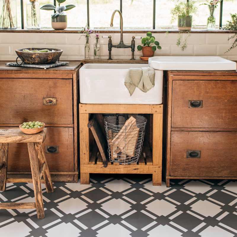 check shadow grey kitchen vinyl flooring