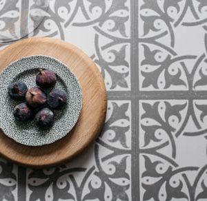 Grey victorian luxury vinyl tiles