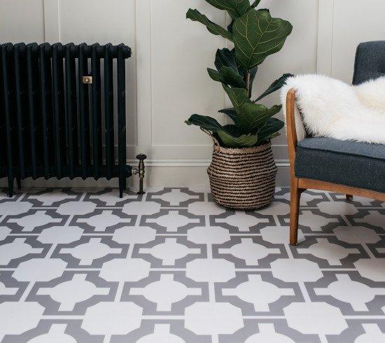 Grey Patterned Flooring