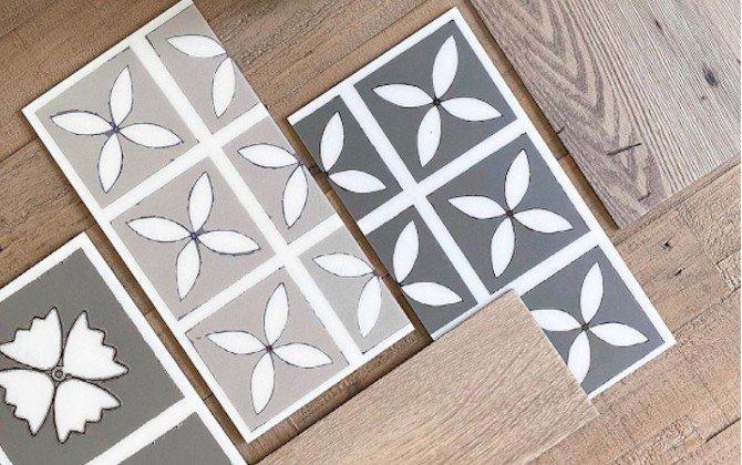 decorative grey flooring tiles