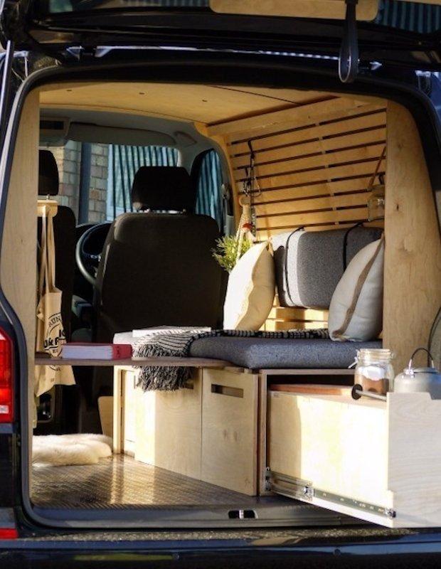rubber dimples floor in a vanva