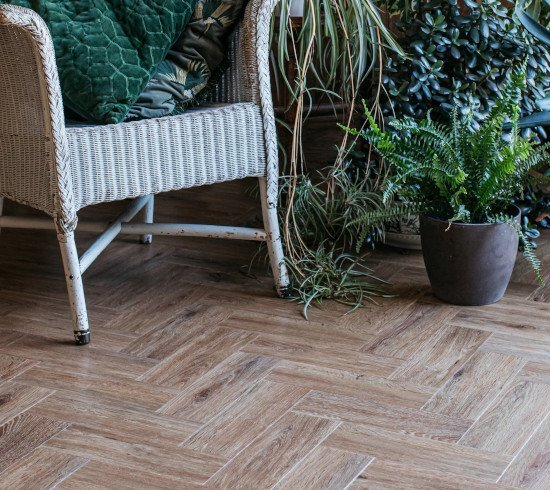 Parquet limed oak wood effect