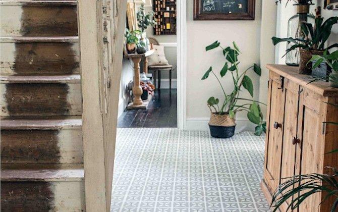 decorative hallway floor tiles