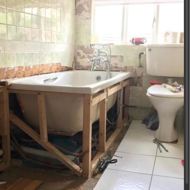 bathroom mid renovation project
