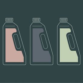 flor cleaning products graphic