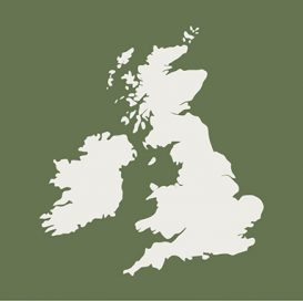 green map of the united kingdom graphic