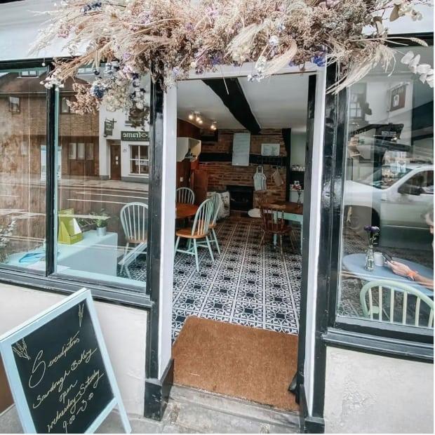modrn rustic bakery exterior